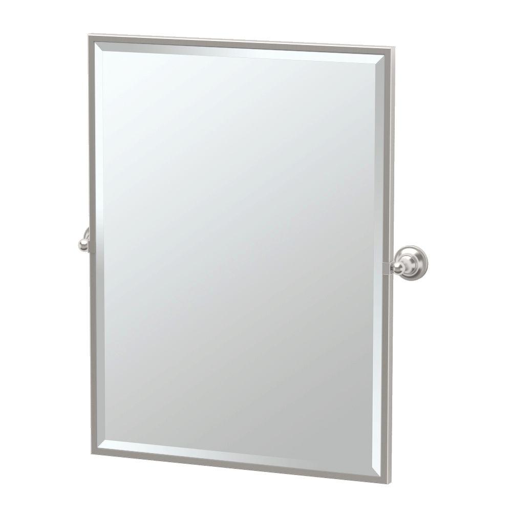 Tiara 28.25 in. x 32.50 in. Framed Single Large Rectangle Mirror