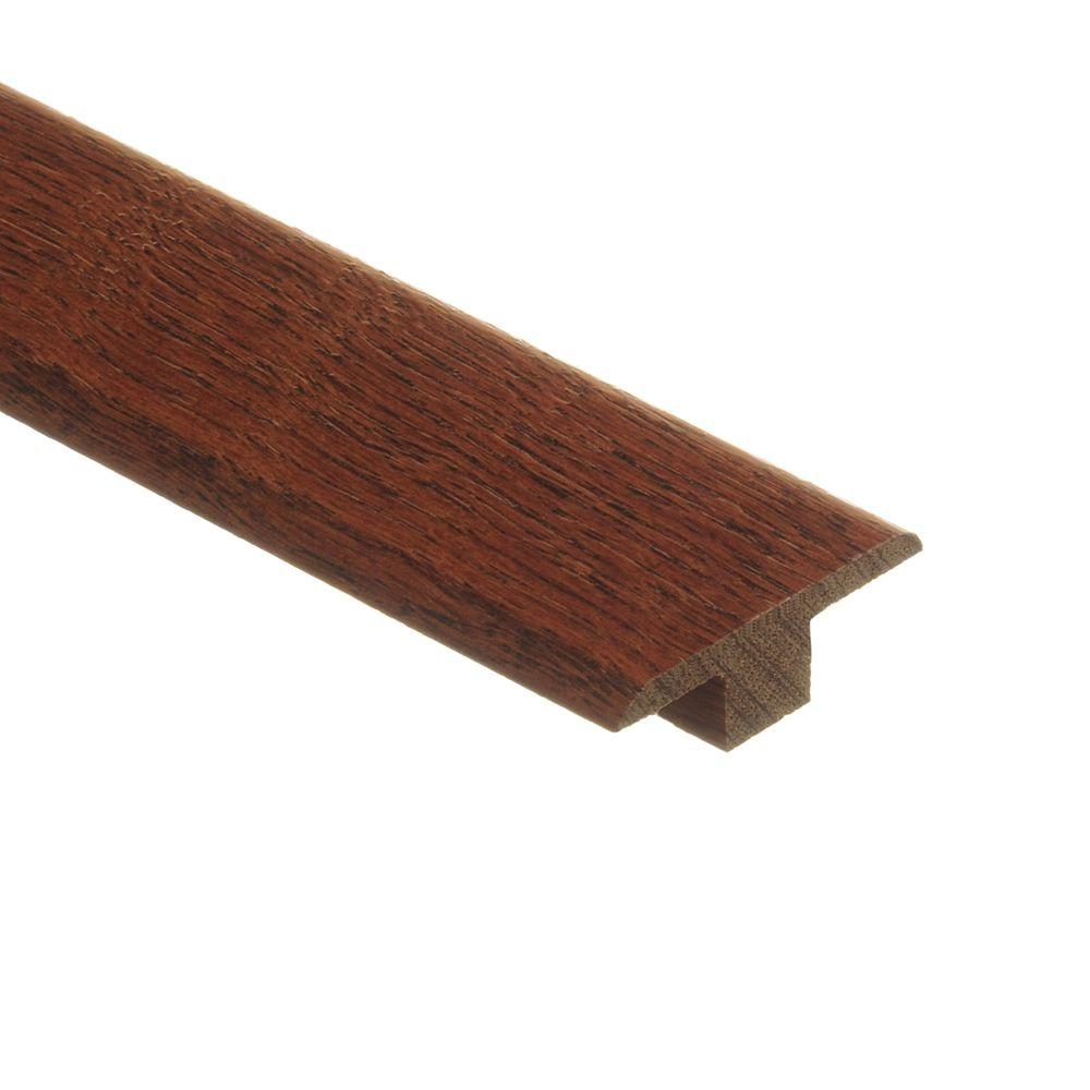 Zamma Oak Gunstock/Raymore/Natural Oak Parquet Cherry 3/8 in. Thick x 1-3/4 in. Wide x 80 in. Length Wood T-Molding