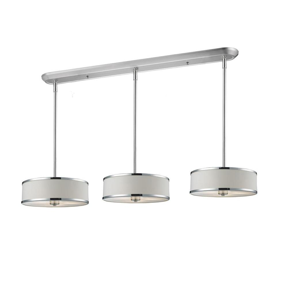 Lawrence 9-Light Chrome Incandescent Ceiling Island Light