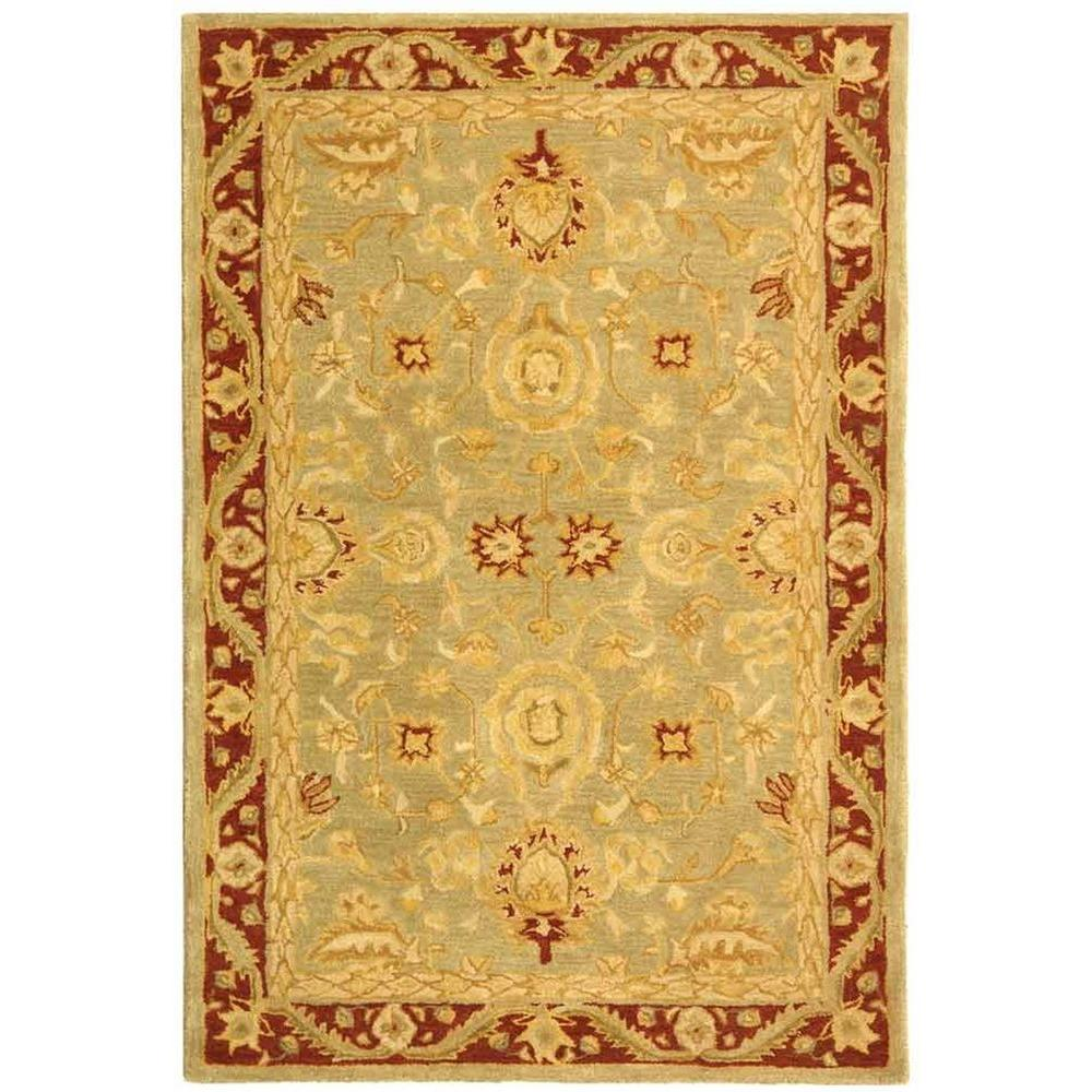 Safavieh Anatolia Light Green/Red 4 ft. x 6 ft. Area Rug-AN548A-4