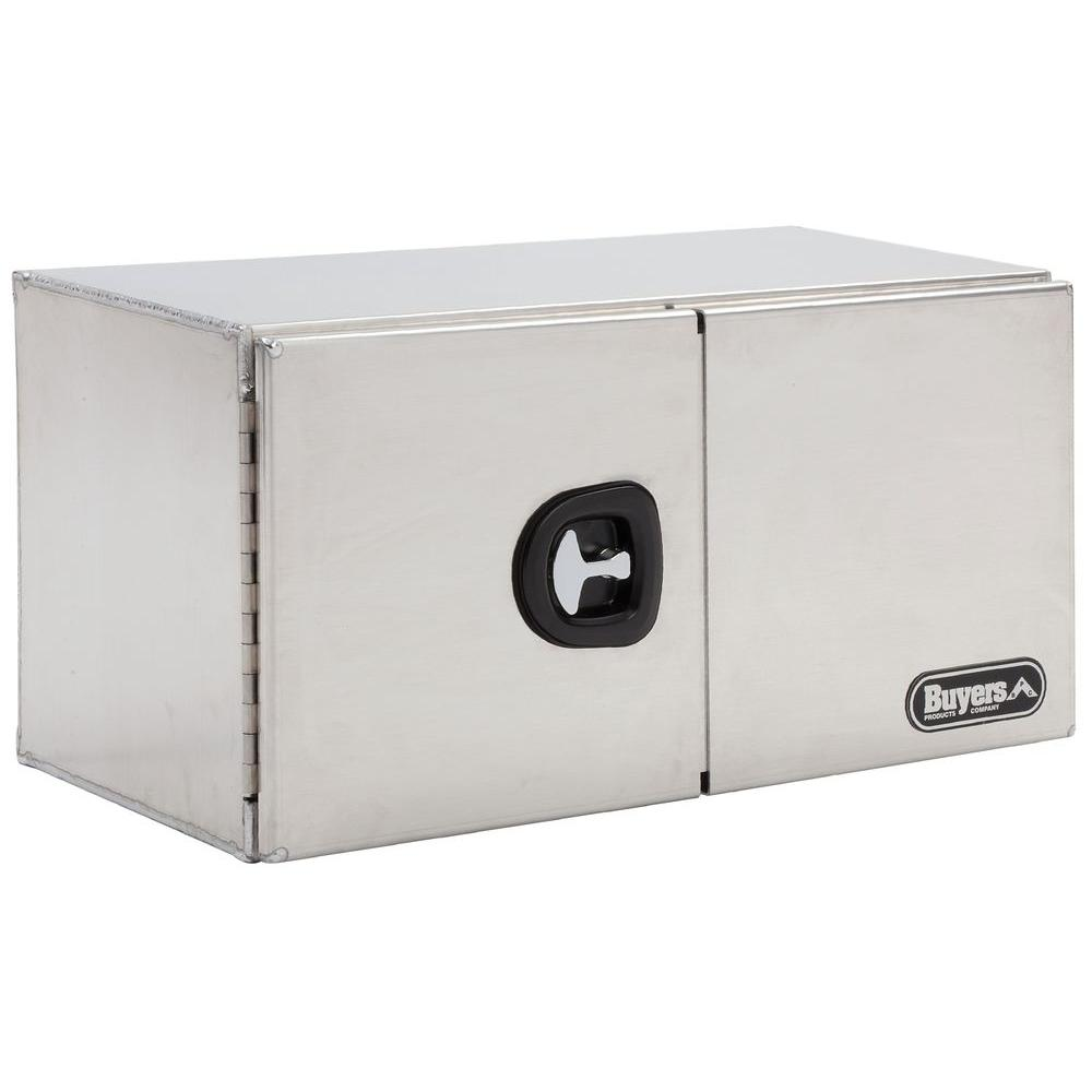 Buyers Products Company 60 in. Smooth Aluminum Double Barn Door Underbody Tool Box