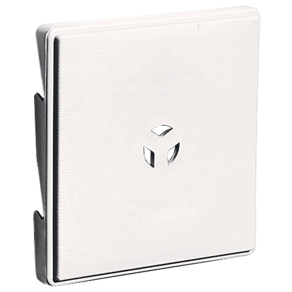 Builders Edge 6.625 in. x 6.625 in. #117 Bright White Triple 3-Surface Block