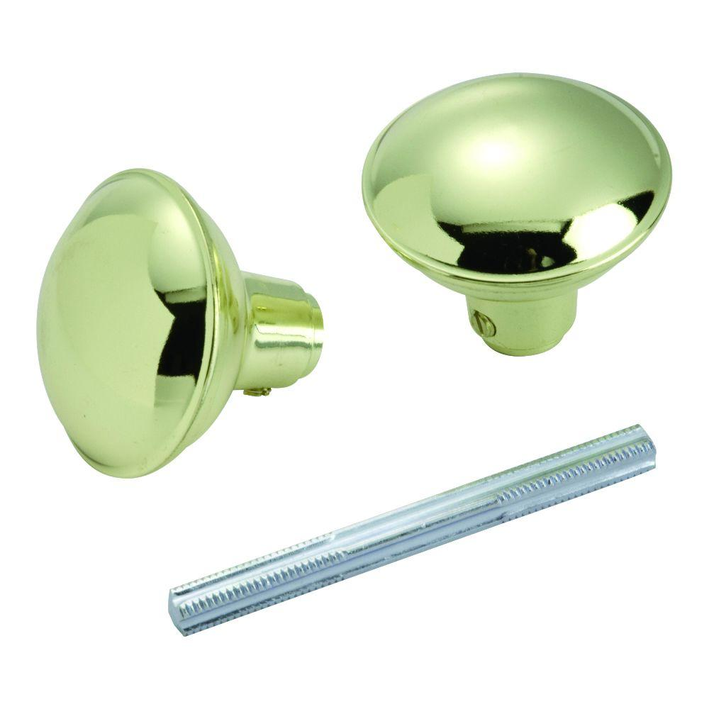 First Watch Security Polished Brass Knob Set with Spindle