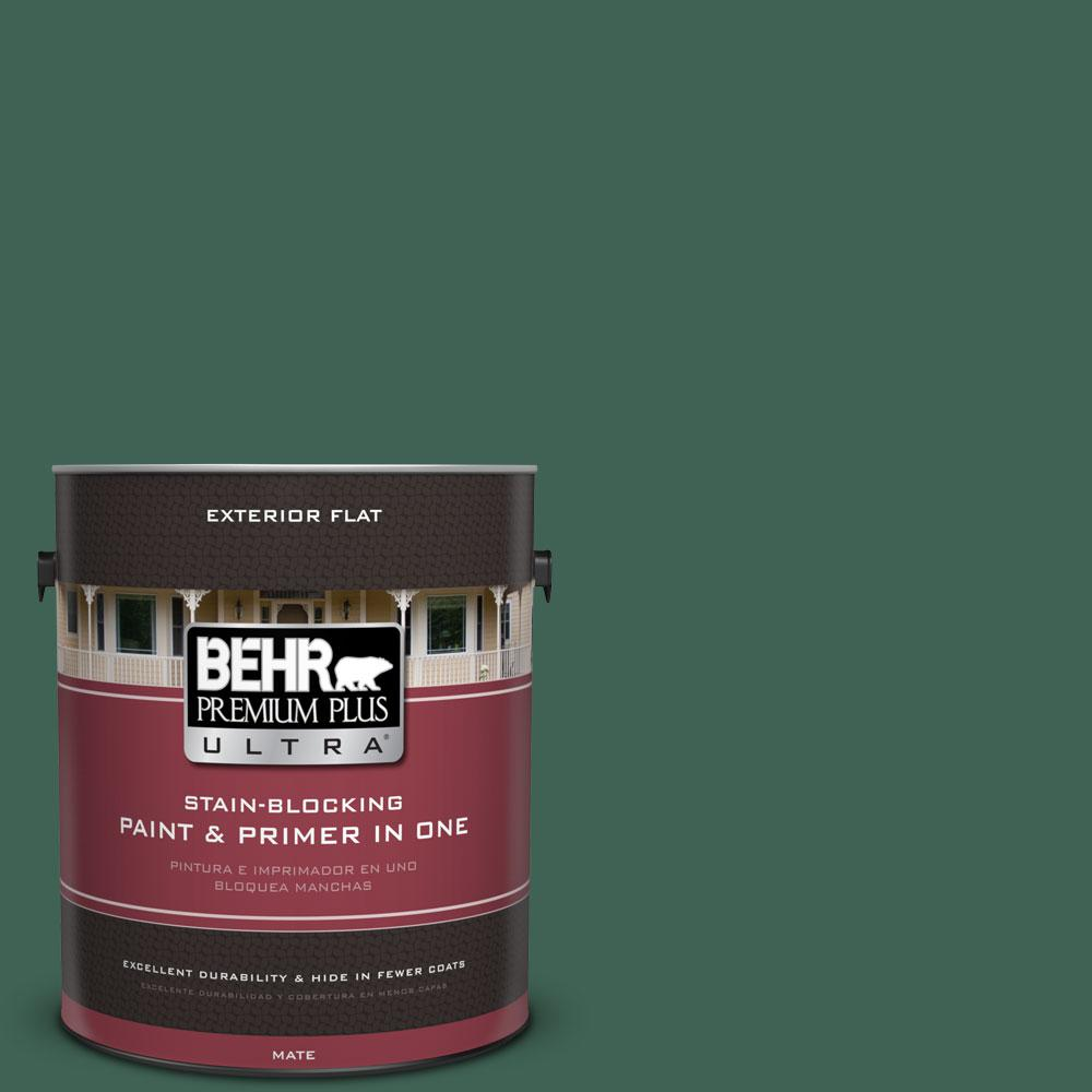 1-gal. #M430-7 Green Agate Flat Exterior Paint