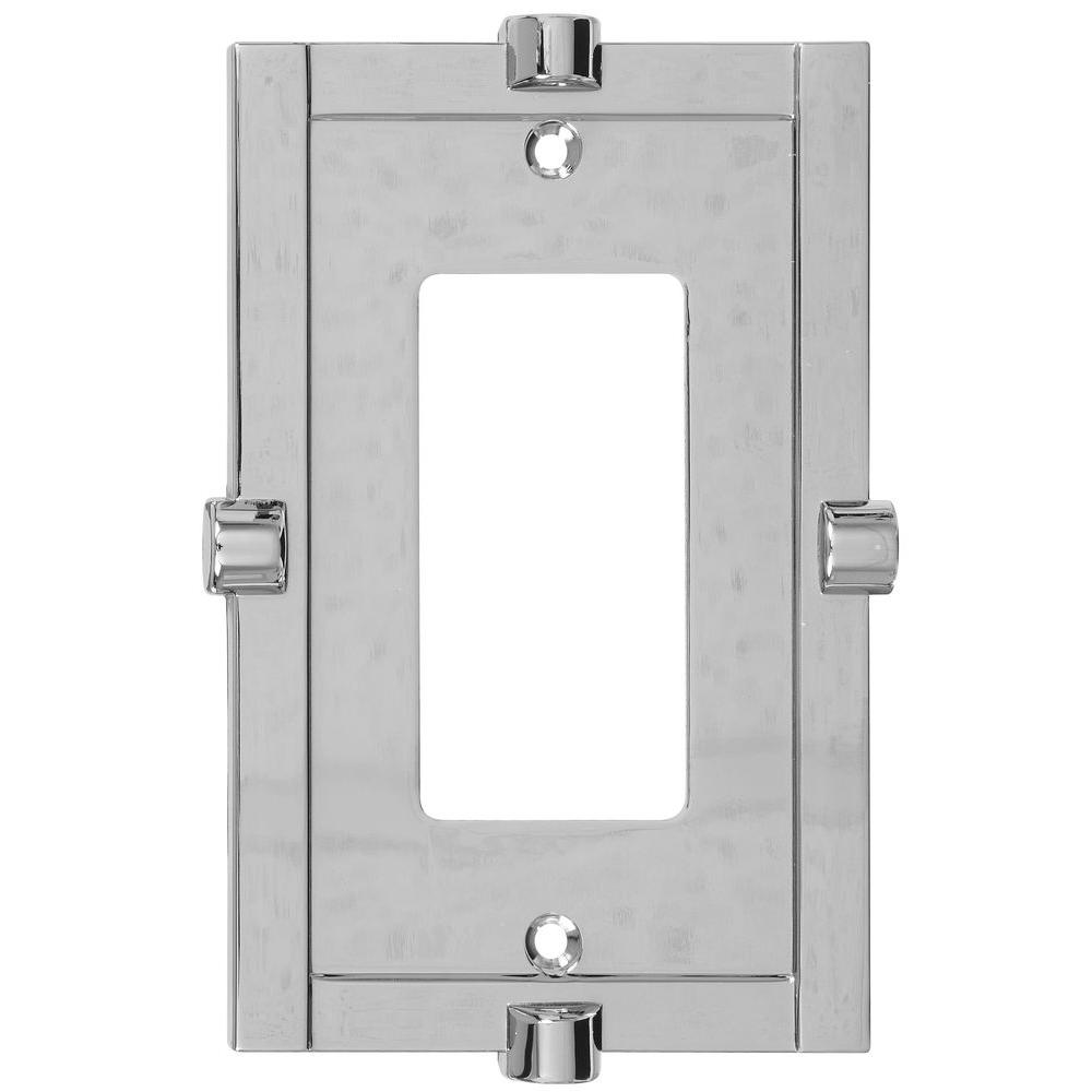 Stanley-National Hardware Meis 1 Rocker Wall Plate - Chrome-DISCONTINUED