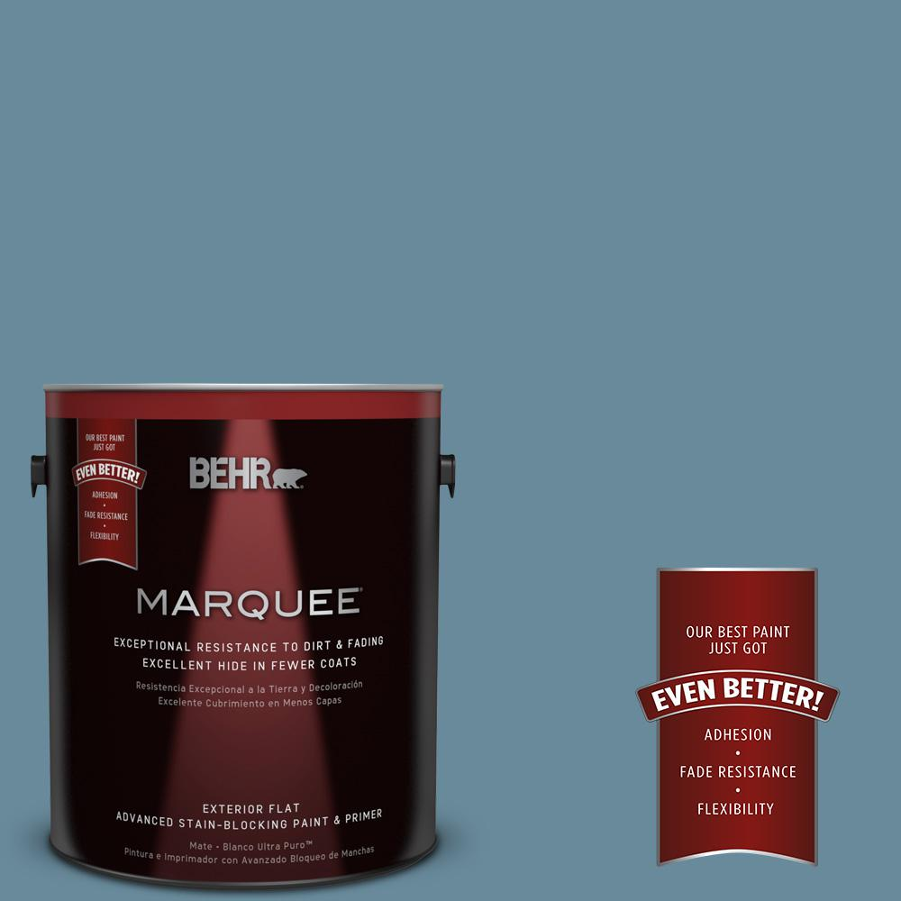 BEHR MARQUEE 1-gal. #BIC-22 Relaxed Blue Flat Exterior Paint