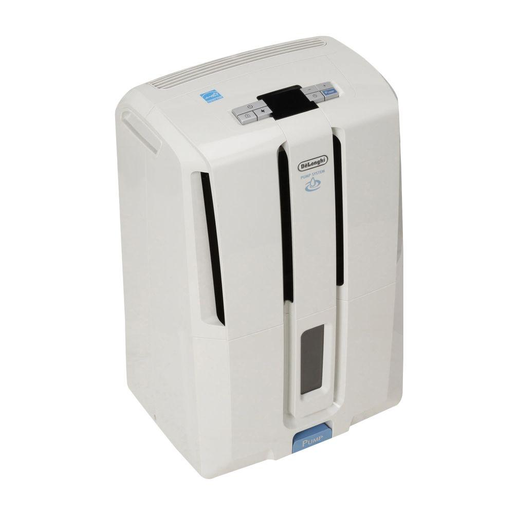 DeLonghi 45-Pint Dehumidifier with Patented Pump-DISCONTINUED
