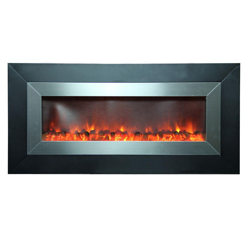 Electric Fireplace Heaters Home Depot: Yosemite Home Decor Aries 53 In. Wall-Mount Electric