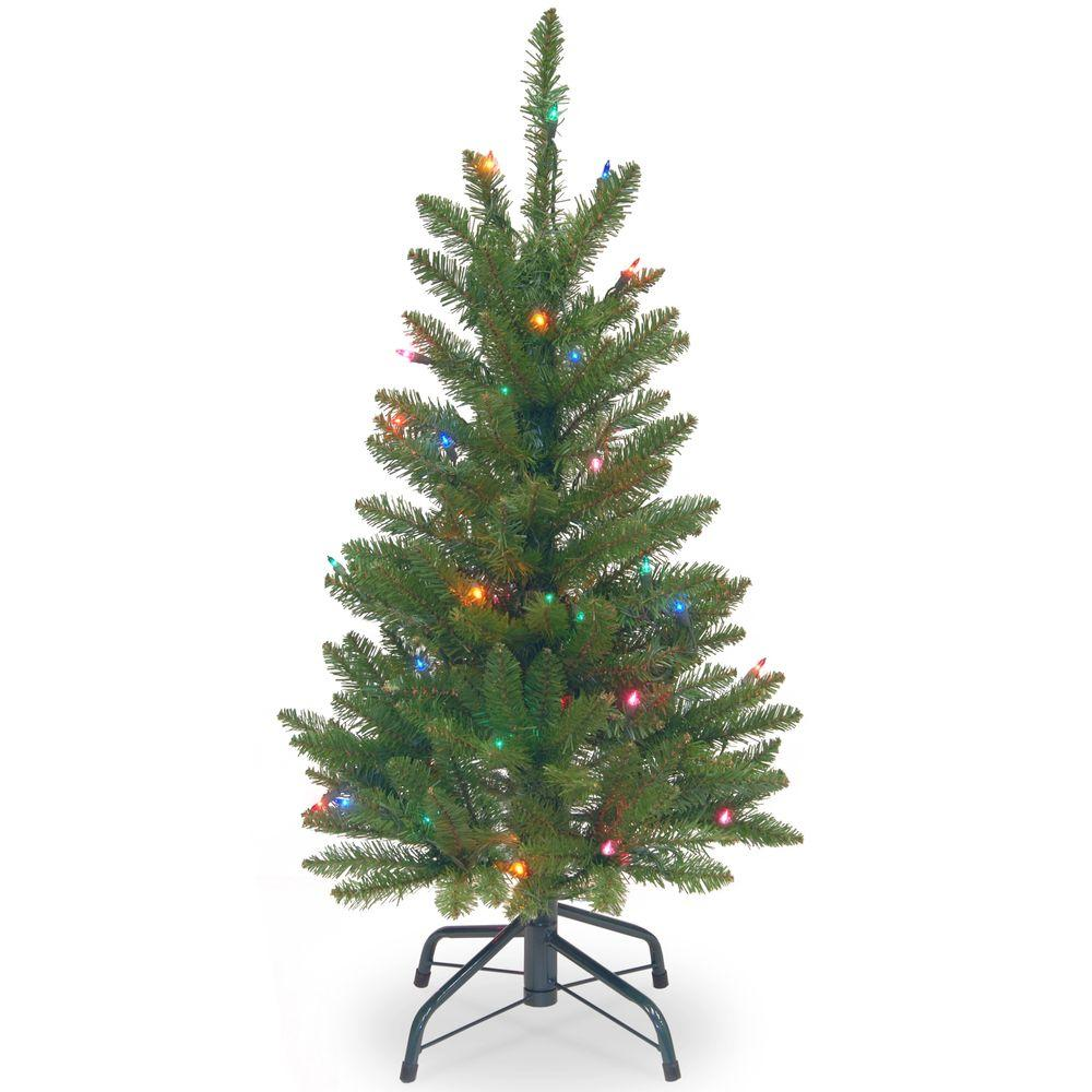 Kingswood Fir Wrapped Pencil Artificial Christmas Tree With Multicolor