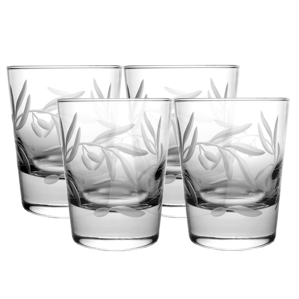 Olive Branch Clear 13 oz. Double Old Fashioned Glass (Set of