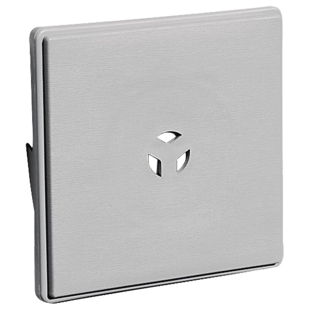 6.625 in. x 6.625 in. #016 Gray Dutch Lap Surface Mounting