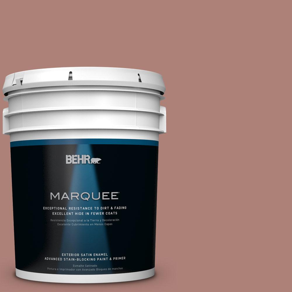 BEHR MARQUEE 5-gal. #S170-5 Smoke Bush Rose Satin Enamel Exterior Paint-945405