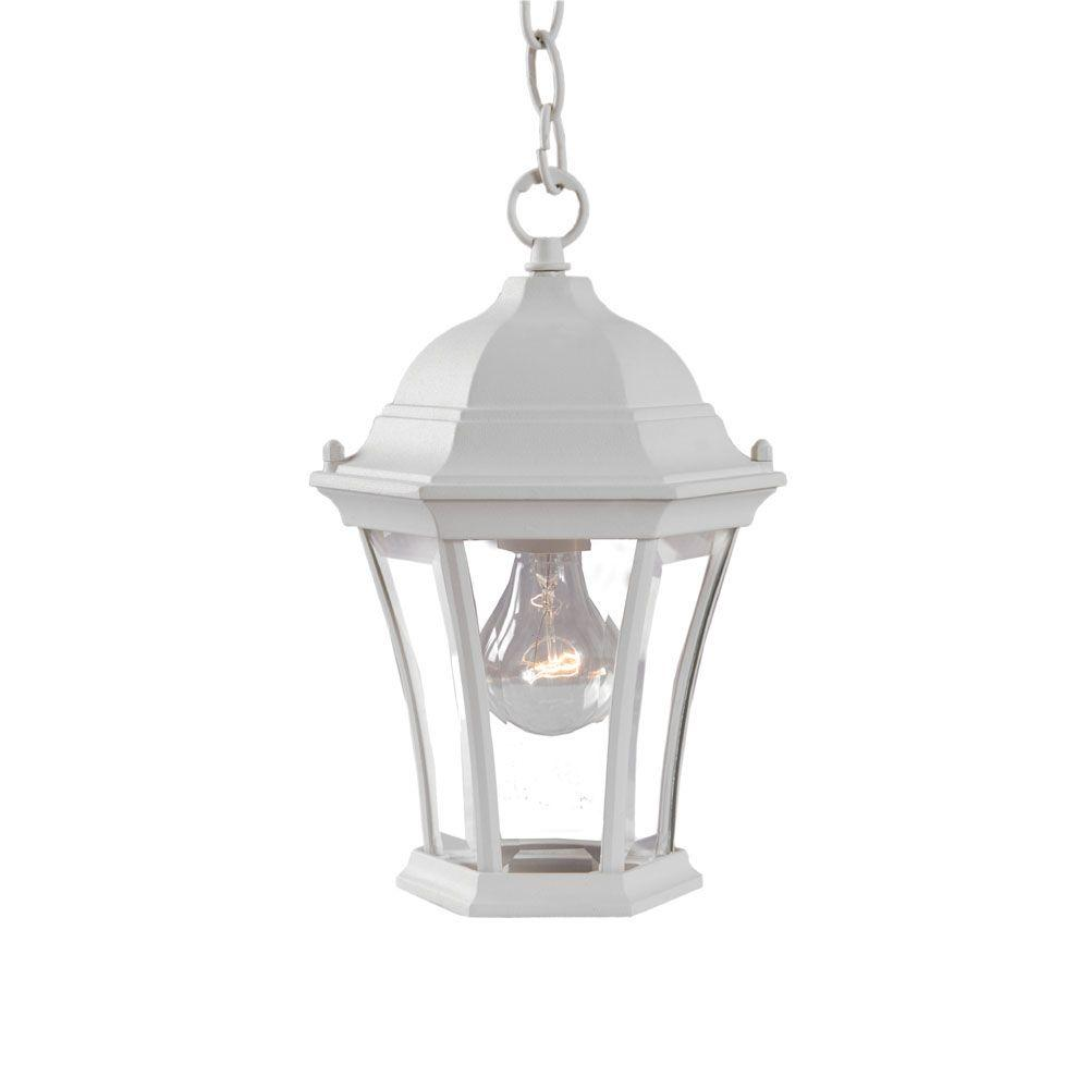 Acclaim Lighting Brynmawr Collection Hanging Lantern 1-Light Outdoor Textured White Light Fixture