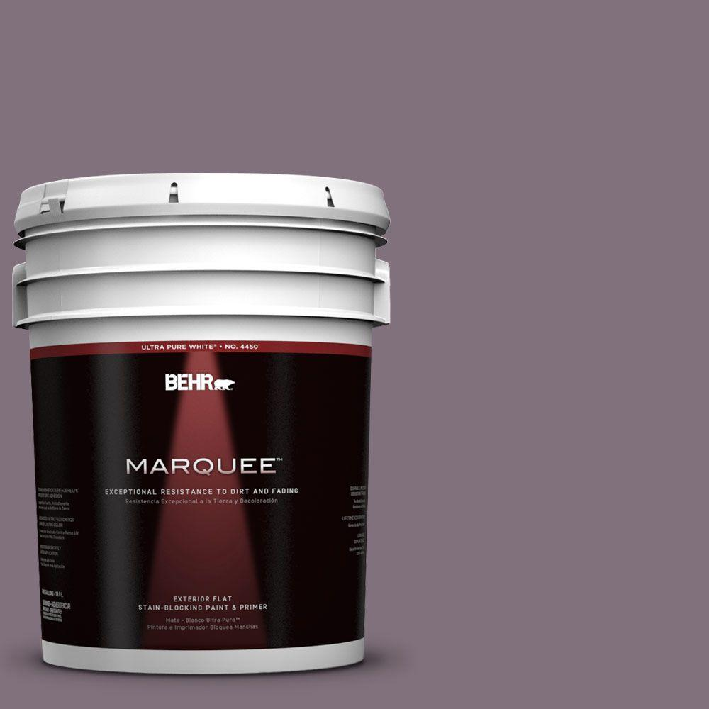 BEHR MARQUEE 5-gal. #690F-6 Wine Frost Flat Exterior Paint