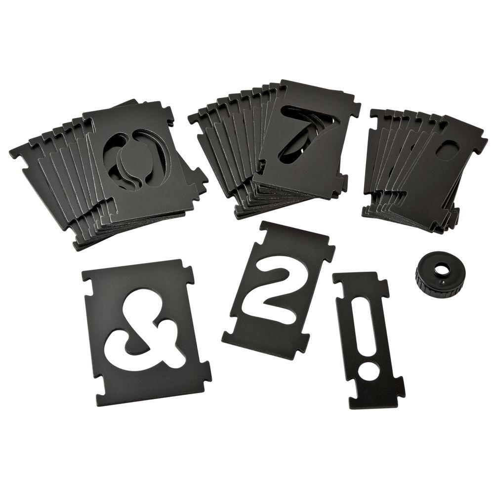 Numbering Sign Making Kit Router Template Plates