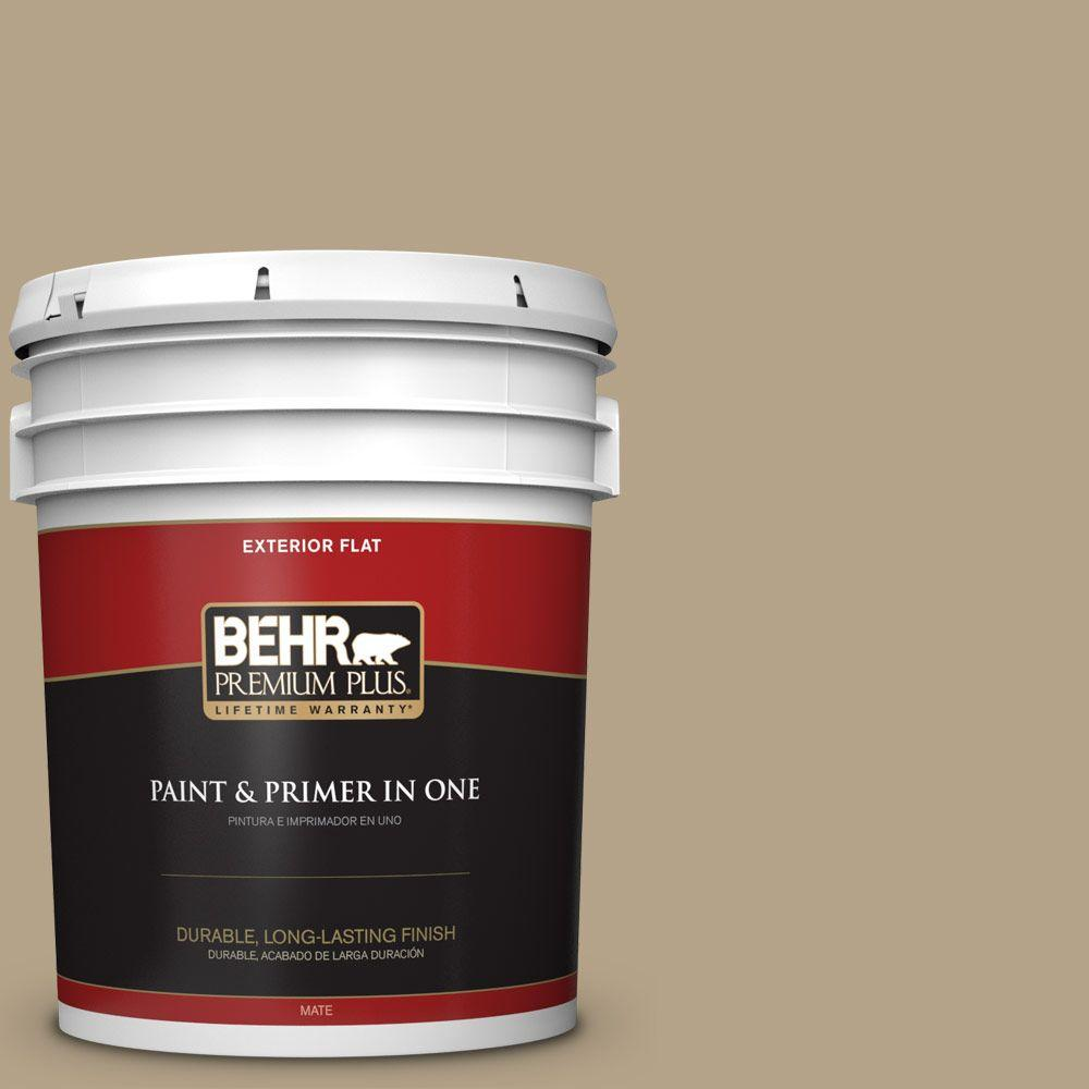 Home Decorators Collection 5-gal. #HDC-NT-12 Curly Willow Flat Exterior Paint