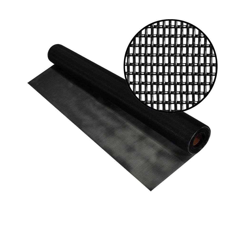 48 in. x 25 ft. Black Pet Screen