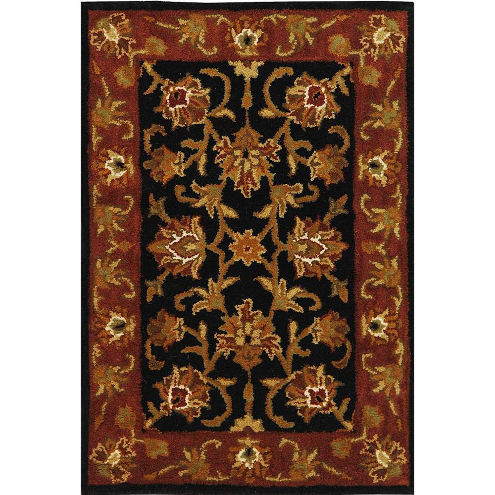 Heritage Black/Red 2 ft. x 3 ft. Area Rug