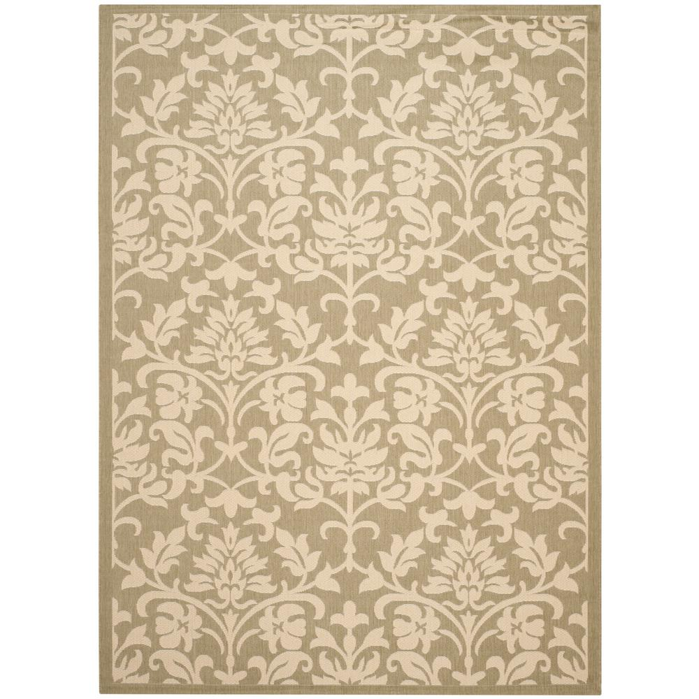 Courtyard Olive/Natural (Green/Natural) 9 ft. x 12 ft. Indoor/Outdoor Area Rug Sale $236.53 SKU: 205921318 ID: CY3416-1E06-9 UPC: 683726920359 :