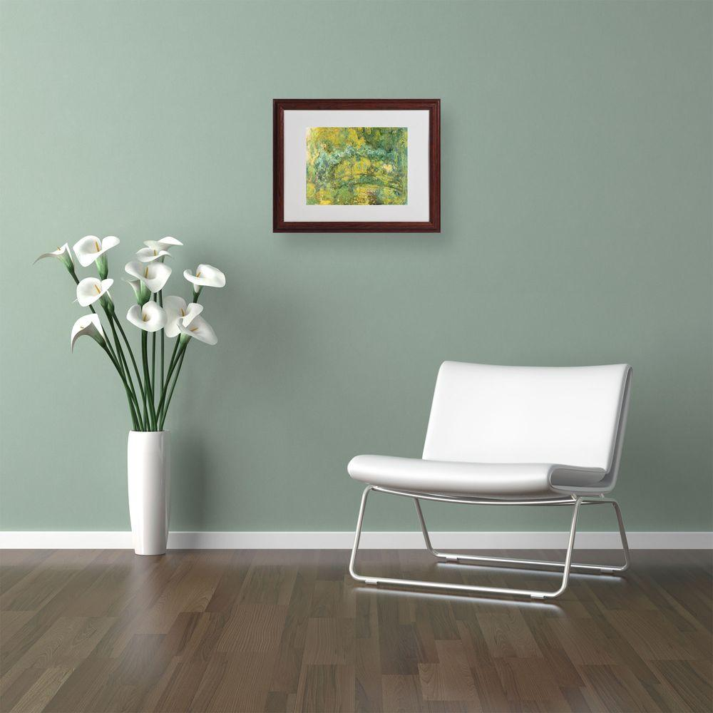 11 in. x 14 in. Passage on Waterlily Pond Matted Brown