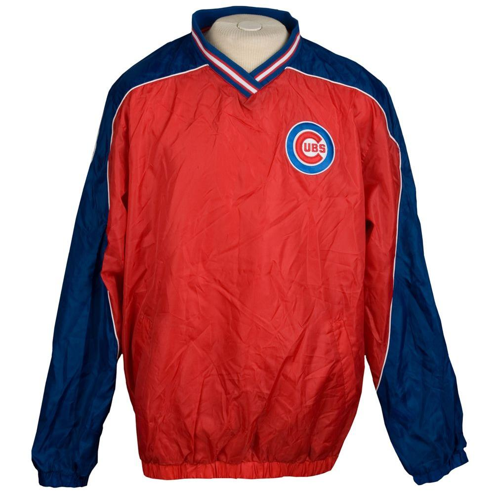 3G Chicago Cubs Light Weight Pullover Large Jacket-DISCONTINUED