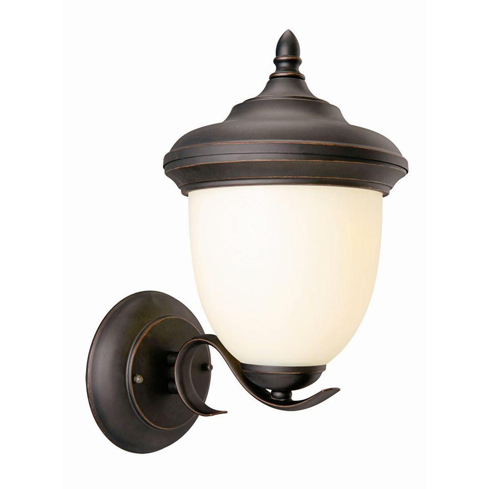 Design House Trevie Oil-Rubbed Bronze Outdoor Uplight-517680 - The Home Depot