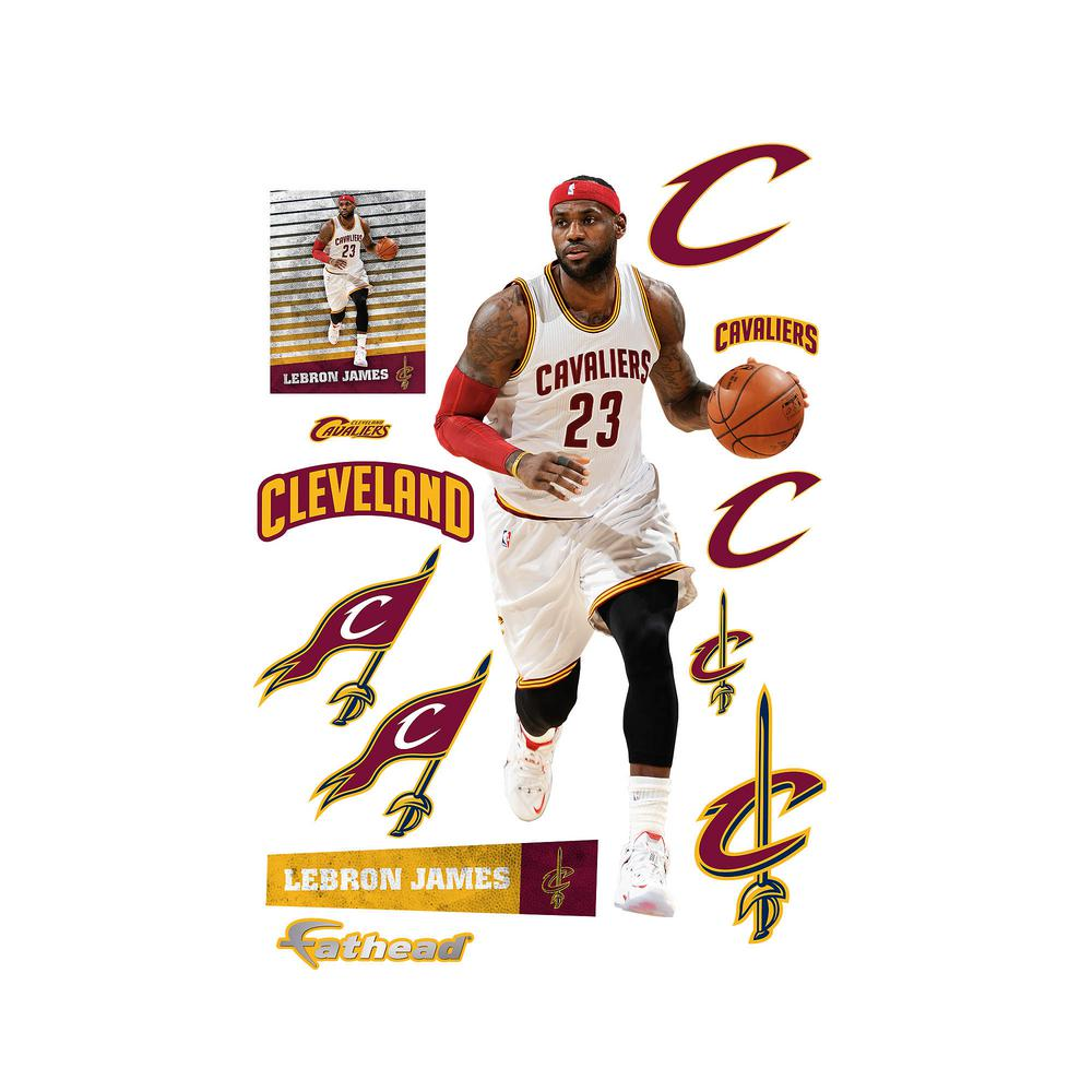 78 in. H x 39 in. W Lebron James Wall Mural