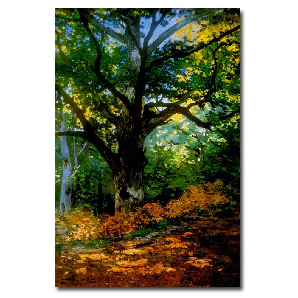 14 in. x 19 in. Bodmer Oak, Fontainebleau Forest Canvas Art