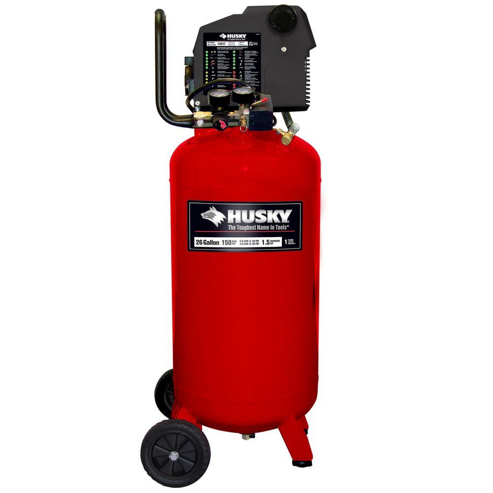 Husky 26-Gal. Portable Electric Air Compressor-DISCONTINUED
