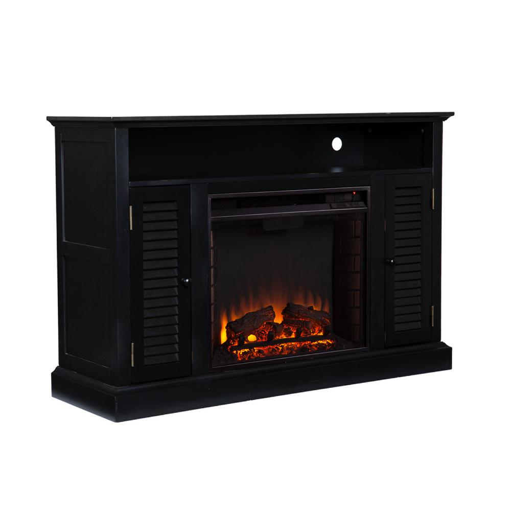 Ontario 48 in. W Media Electric Fireplace in Black-HD90381 - The
