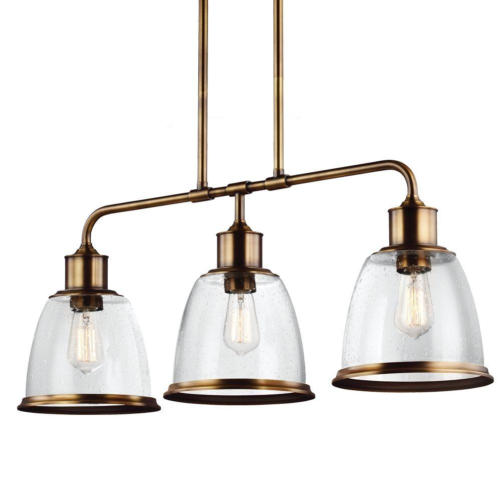 Hobson 3 - Light Aged Brass Island Light