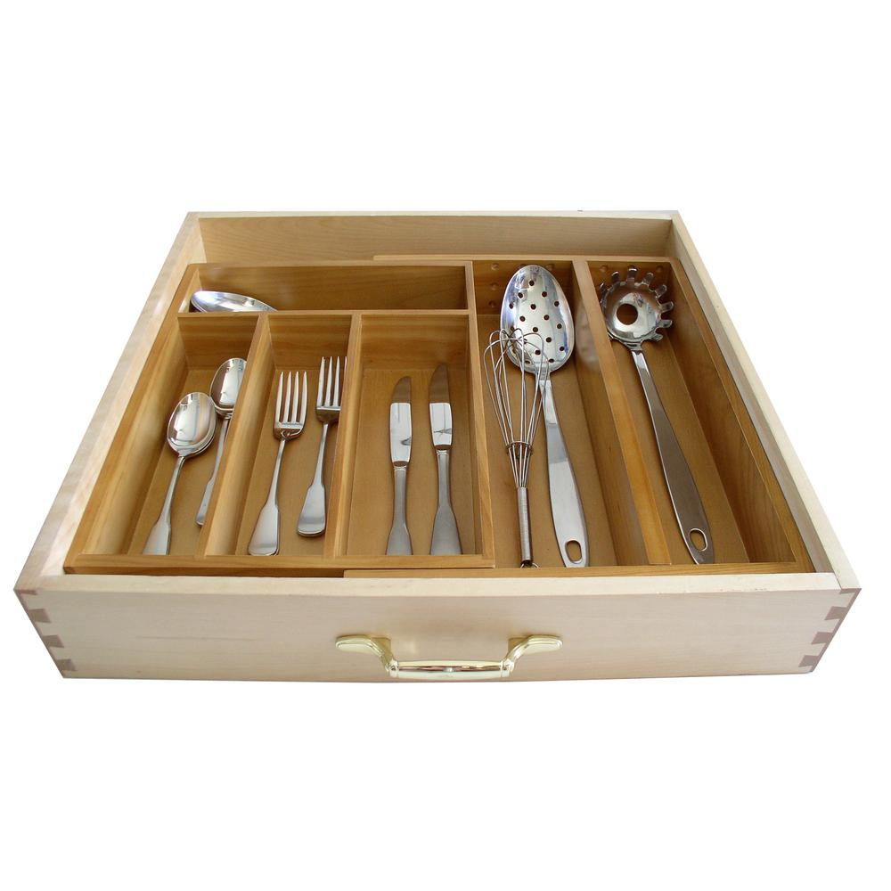 Wood Drawer Organizer Expandable from 12. in. to 20 in.