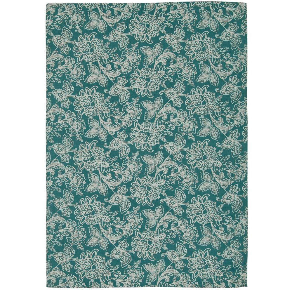 Nourison Overstock Art House Teal 2 ft. 3 in. x 3 ft. 9 in. Accent Rug