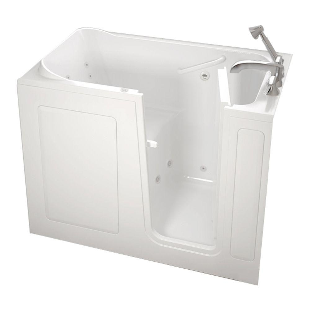 American Standard Gelcoat Standard Series 48 in. x 28 in. Walk-In Whirlpool Tub with Quick Drain in White