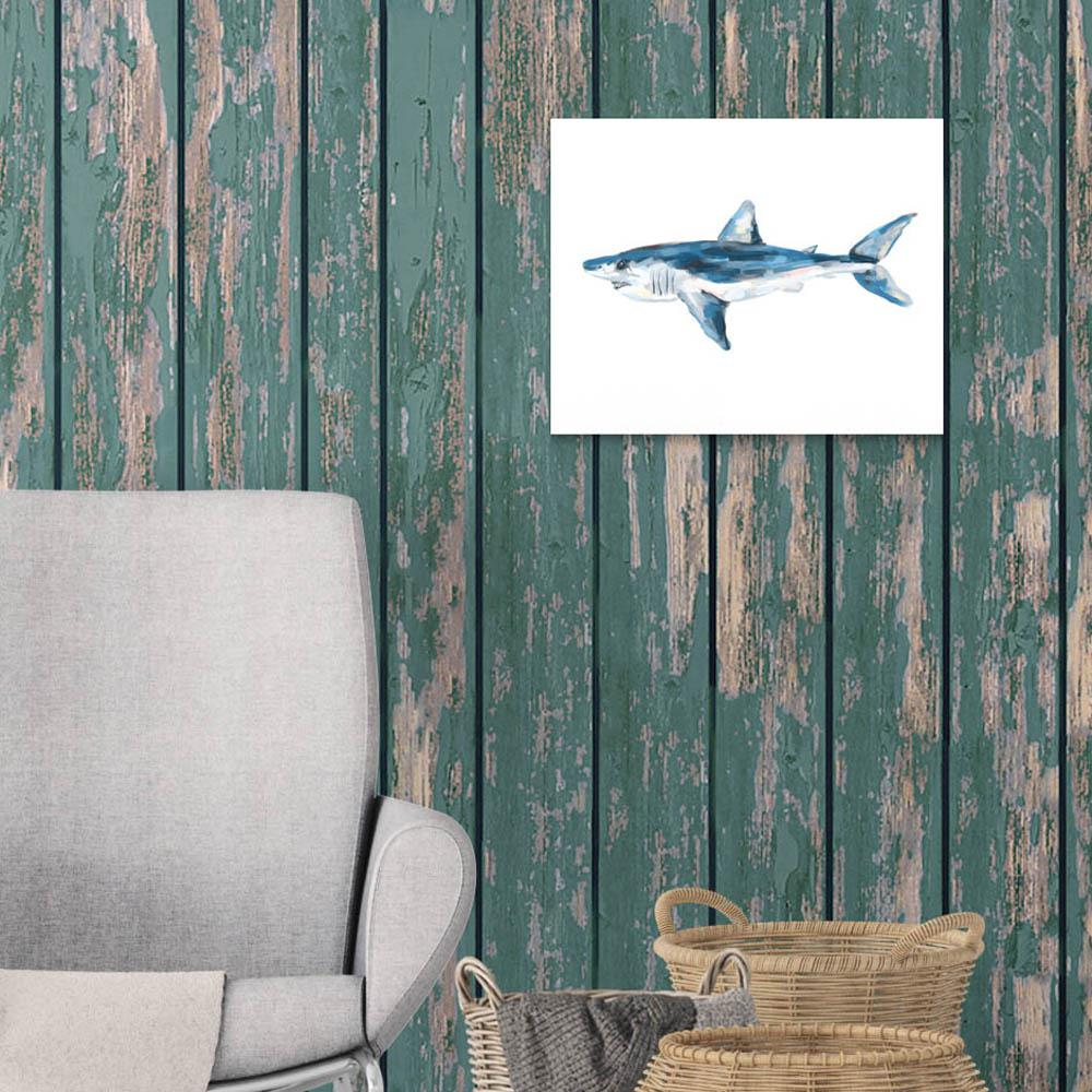 "8 in. x 10 in. ""Mako Shark Painting"" Printed Wall Art"