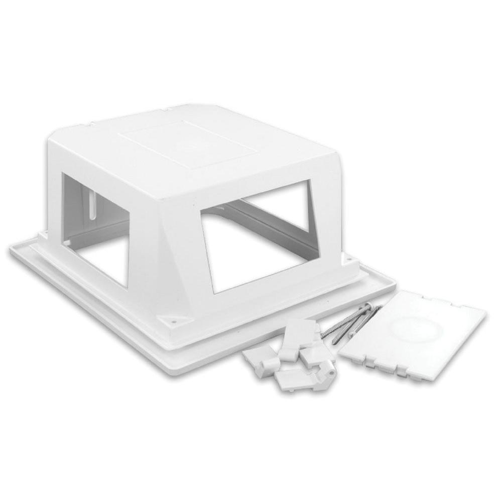 Leviton Recessed Entertainment Box - White-001-47617-REB - The Home Depot