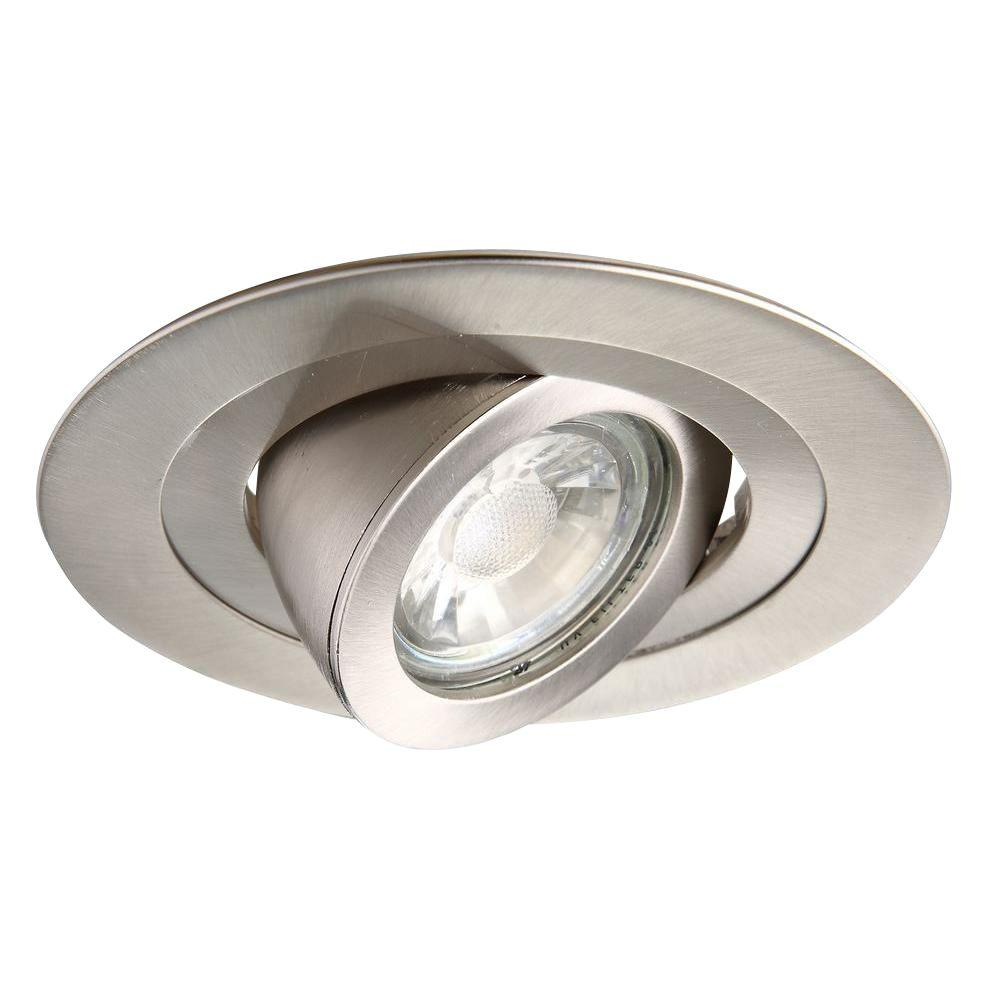 4 in. Brushed Nickel Recessed 35 Degree Adjustable Spot Trim