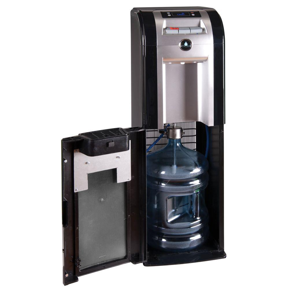 Oasis Mirage Series Bottom Load Bottle Cooler in Black-DISCONTINUED