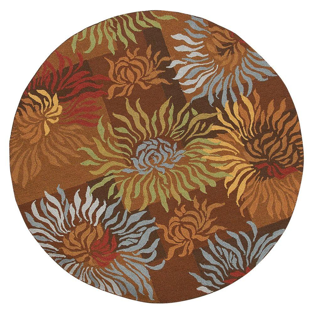 Home Decorators Collection Dazzle Brown 5 ft. 6 in. Round Area Rug