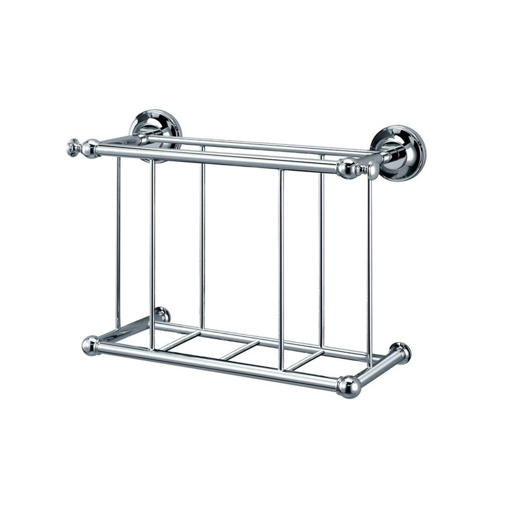 Gatco Traditional Magazine Rack in Chrome