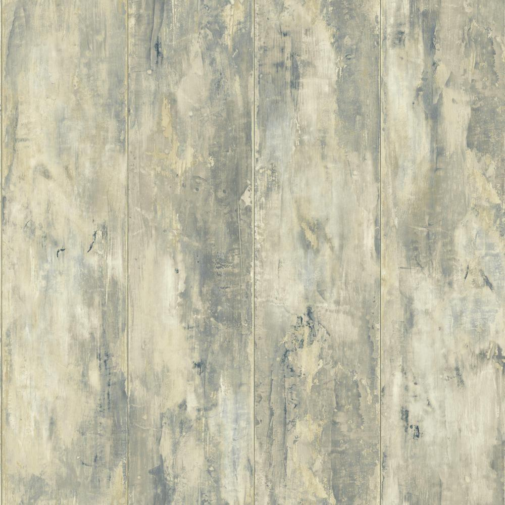 York Wallcoverings 56 sq. ft. Nautical Living Painted Wood Planks Wallpaper