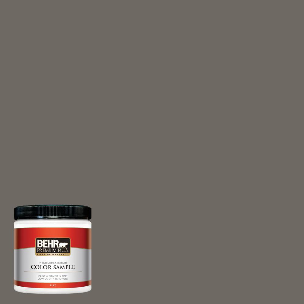 8 oz. #PPU24-04 Burnished Pewter Flat Interior/Exterior Paint Sample