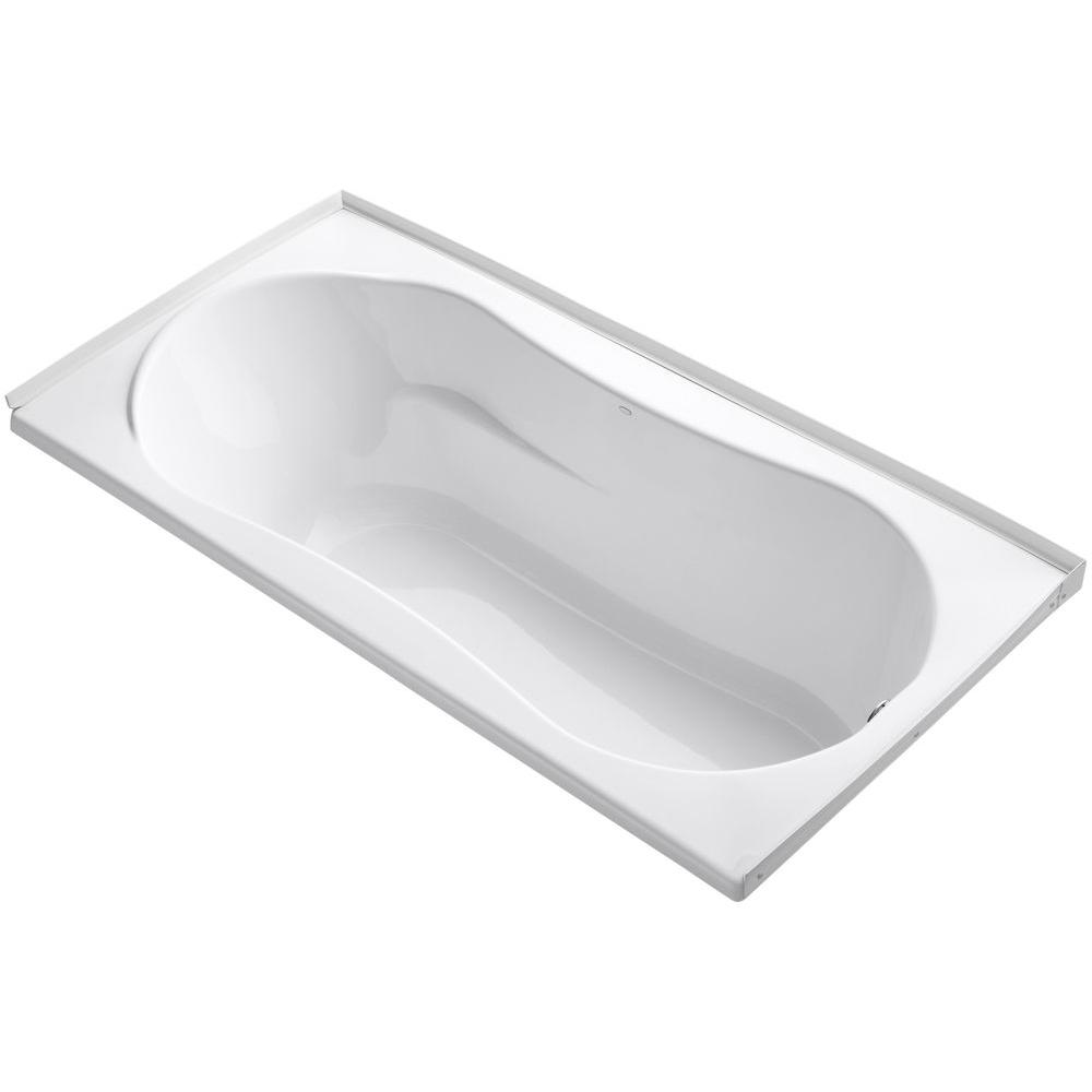6 ft. Right Drain Soaking Tub in White