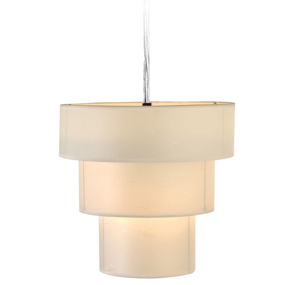 Pique 1-Light Brushed Nickel Ceiling Fixture
