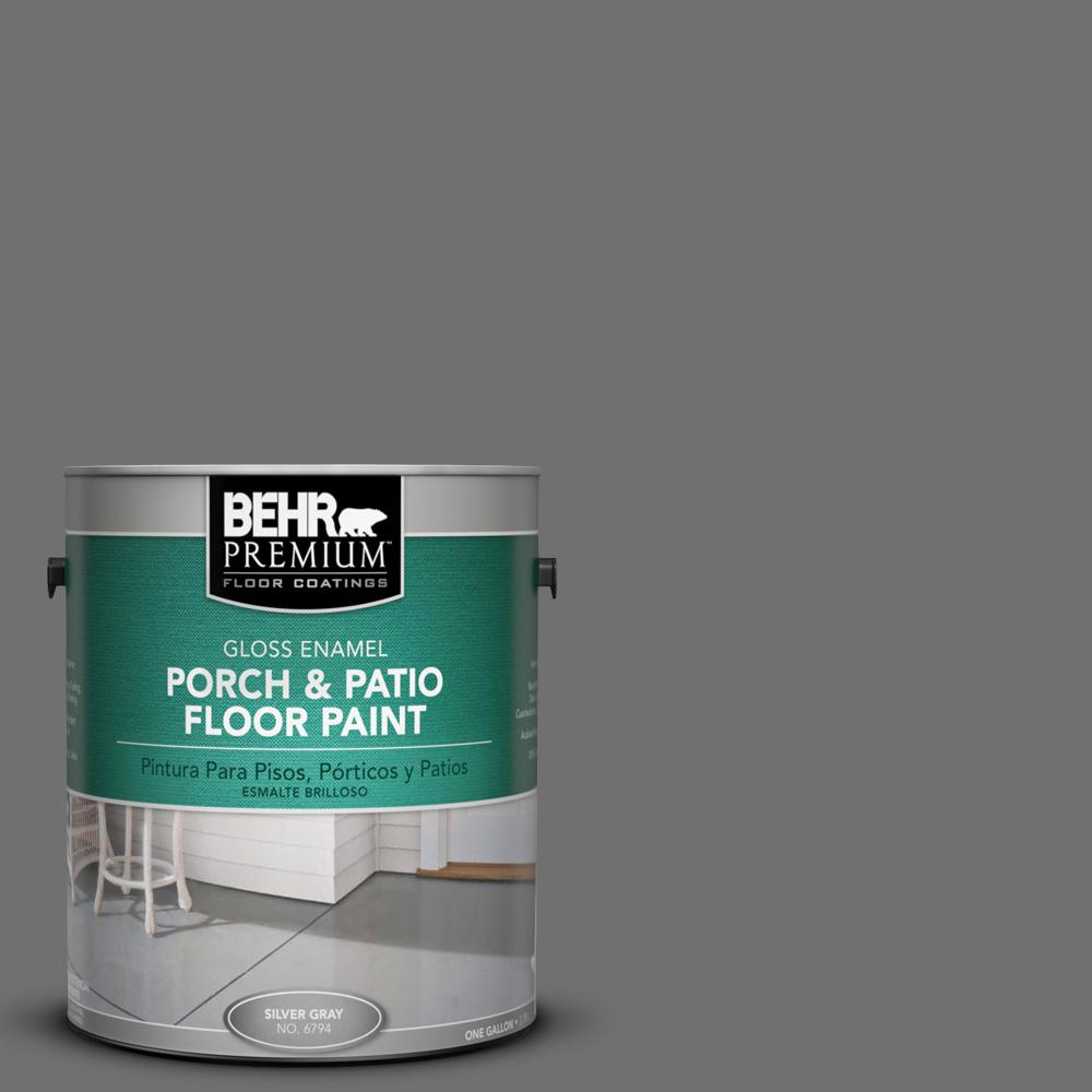 1 gal. #AE-48 Machine Gray Gloss Porch and Patio Floor Paint