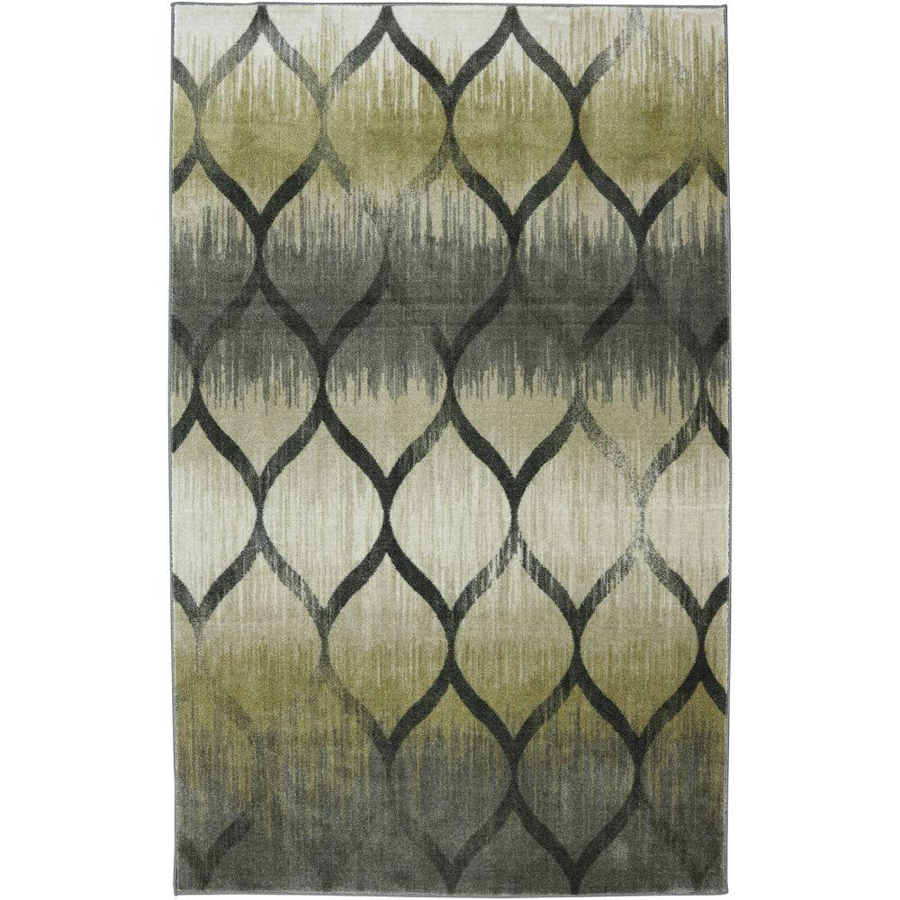 null Garden Hatch Pewter 5 ft. x 8 ft. Area Rug