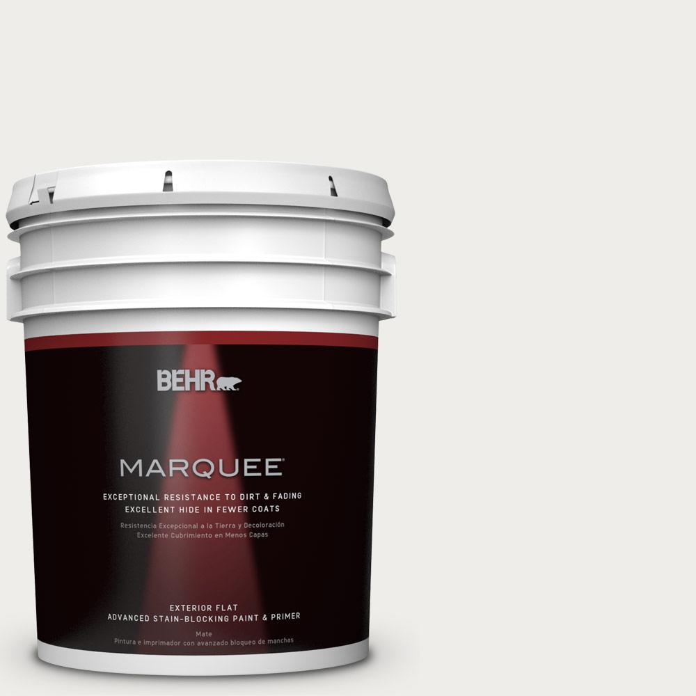 BEHR MARQUEE 5-gal. #W-F-610 White Fur Flat Exterior Paint