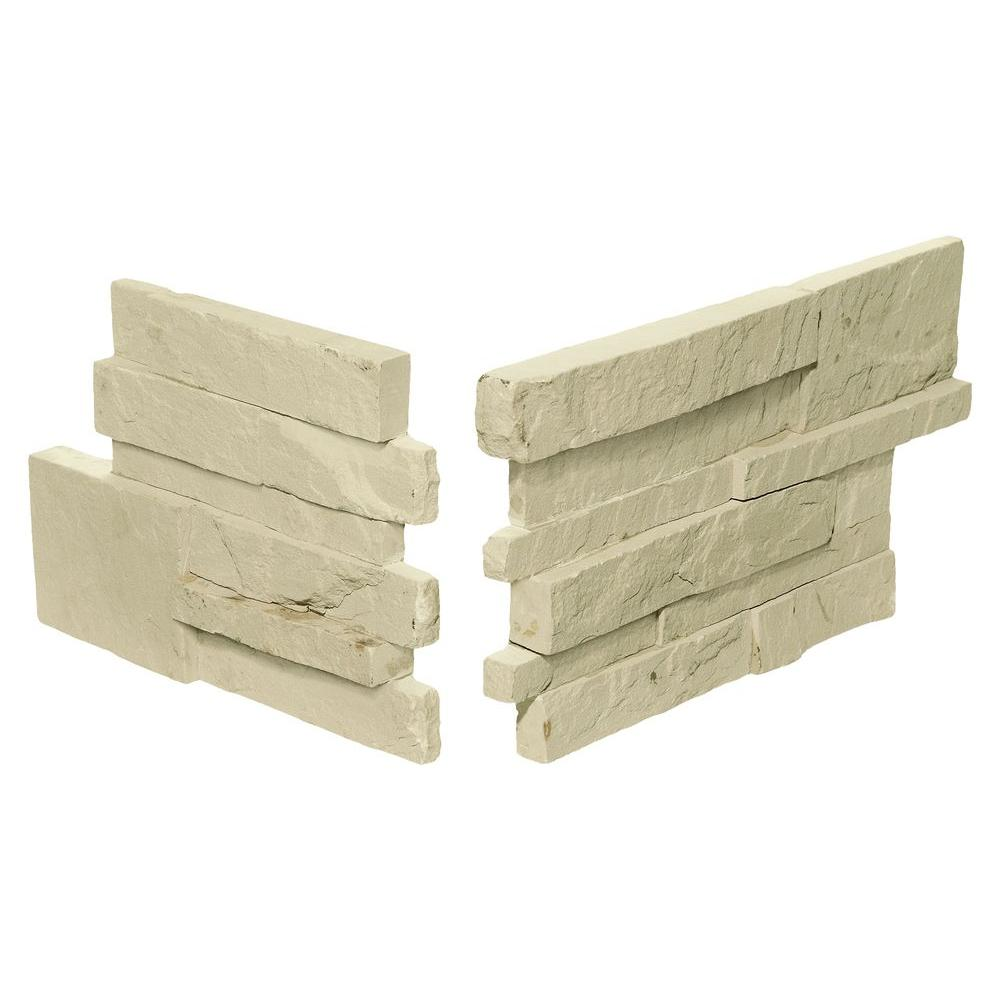 Daltile Exterior Stack Eastern Sand 7 in. x 13-1/2 in. Stone Corner Wall Tile (1.02 sq. ft. / Pack)