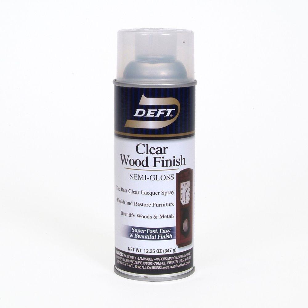 Deft 1-Aerosol Interior Semi-Gloss Clear Wood Finish Brushing Lacquer