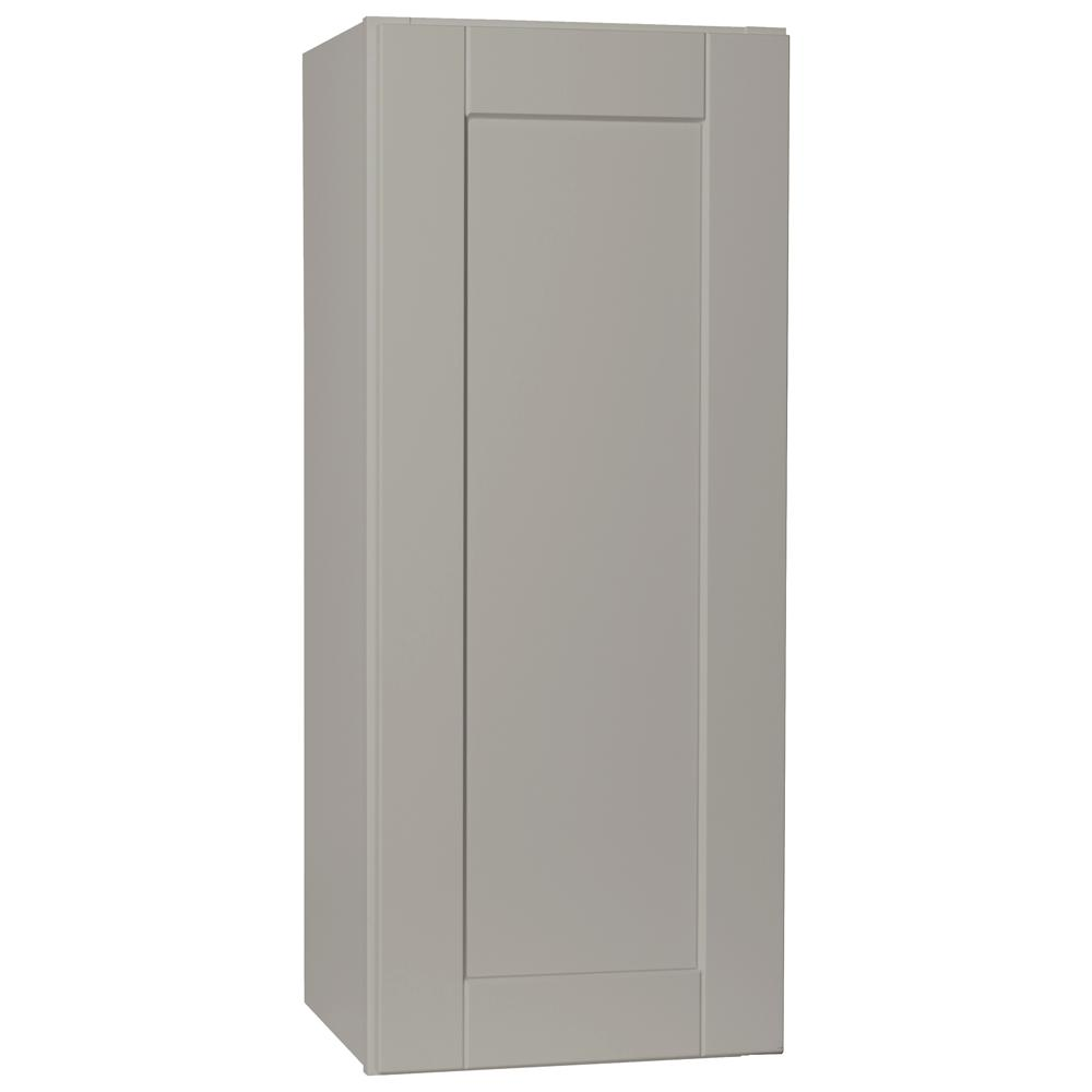 Shaker Assembled 15x36x12 in. Wall Kitchen Cabinet in Dove Gray